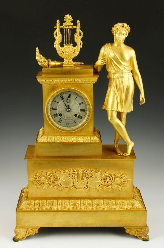 19th C. Empire Clock : Lot 3085