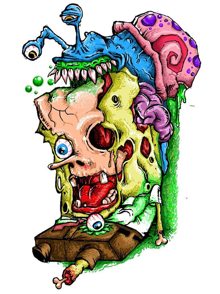 spongebob squarepants sugar skull skulls pinterest spongebob