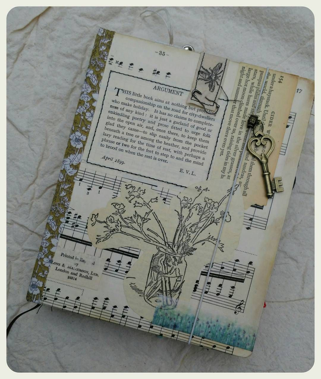 Handmade Journal Notebook For Sale In My Etsy Shop Drawingbook Planner Junkjournal Paper Paperlove Sta Vintage Journal Handmade Books Handmade Journal