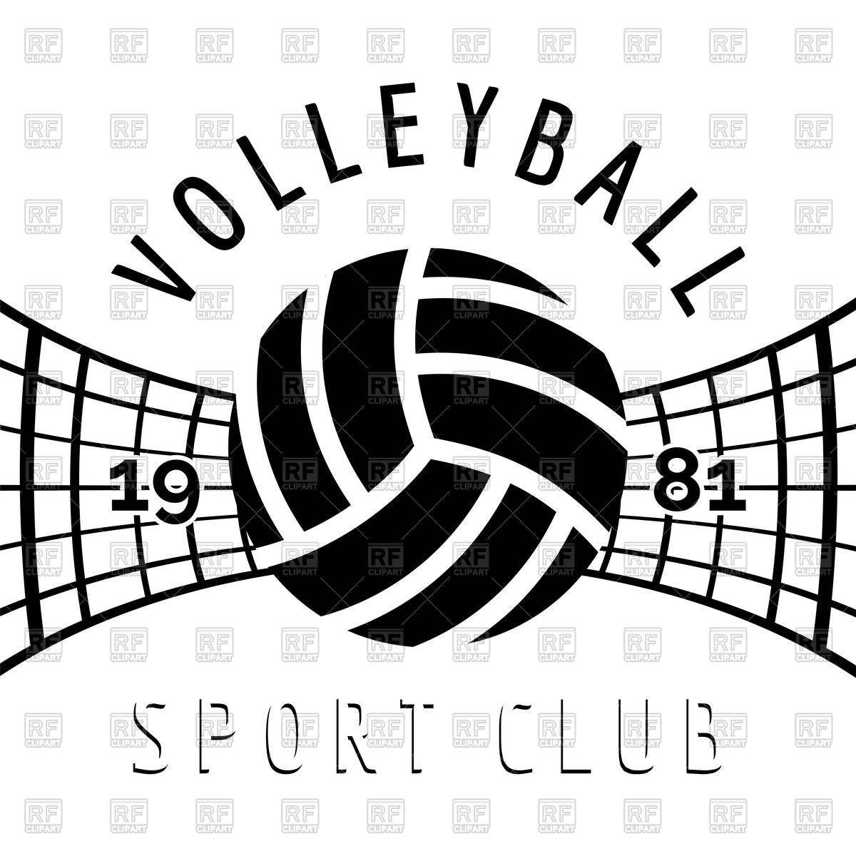 Download Royalty Free Volleyball Club Emblem On White Background Vector Image 137501 From Rfclipart Illustrations Vector Graphics Of Volle With Images Volleyball Wallpaper