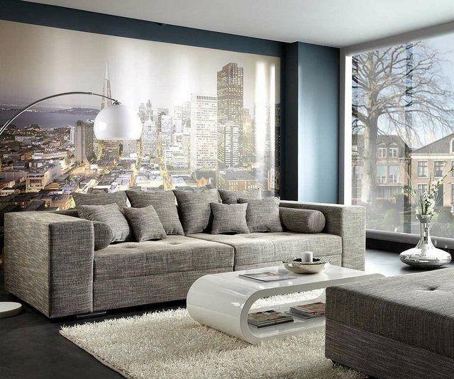 Xxl Sofa Marlen 300x140 Cm Bigsofa Sofa Hellgrau Xxl Sofa Und Couch Mobel