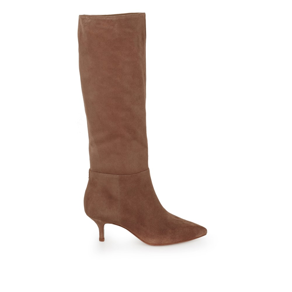 Kalia Tall Kitten Heel Boot Boots Samedelman Com Kitten Heel Boots Boots Low Heel Tall Boots