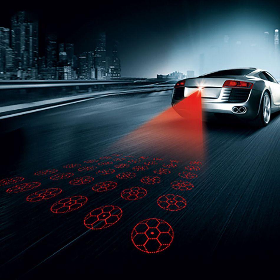 Anti Tabrakan Belakang Mobil Laser Ekor V Led Mobil Fog - Car laser light show