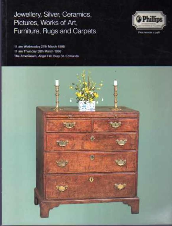 Jewellery, Silver, Ceramics, Pictures, Works of Art, Furniture, Rugs and Carpets, Phillips
