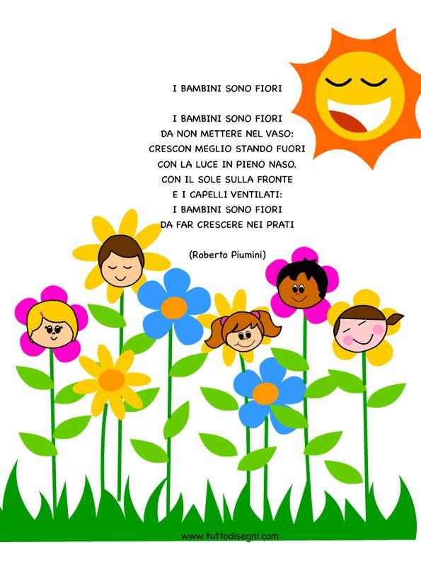 Célèbre i-bambini-sono-fiori | primavera | Pinterest | Filastrocche  SI38