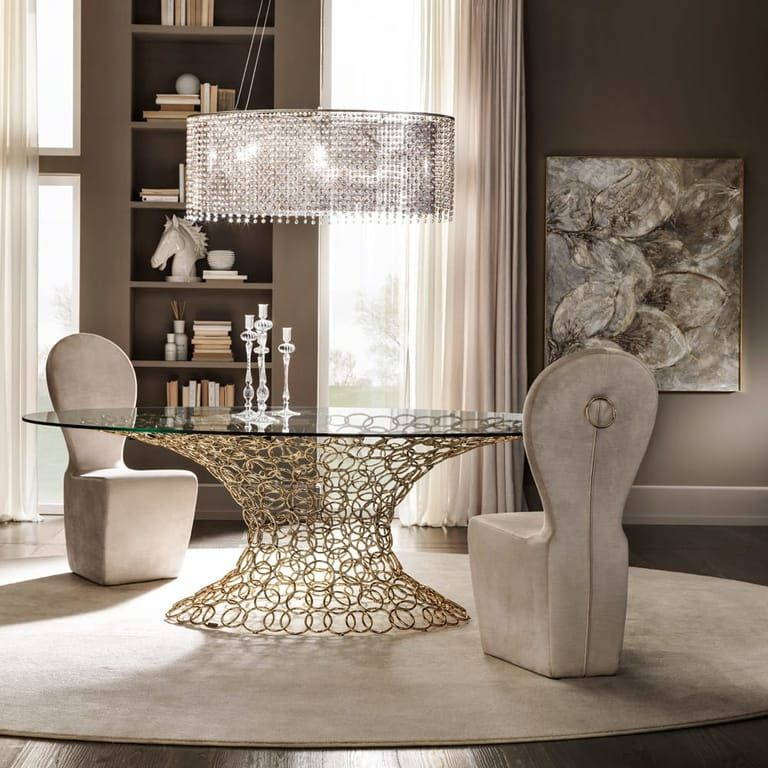 38+ Gold glass dining table set Trend