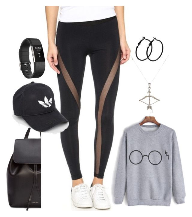 """""""Untitled #1478"""" by social-outcast-16 on Polyvore featuring Mansur Gavriel, David Lerner, adidas, Fitbit and Feathered Soul"""