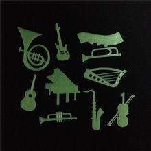 10 Unidades Pacote Instrumento Musical Teto Diy Brilham No Escuro