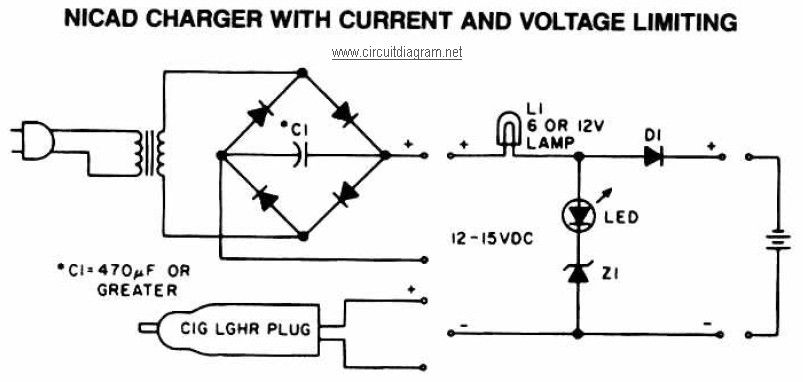 fe73fce479f0375d19968d629d5ef0f2 nicad battery charger with current and voltage limiting fuentes Battery Charger Schematic Diagram at edmiracle.co