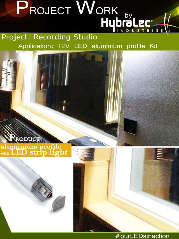 Corner Aluminium Profile Channels Installed In Recording Studio Ourledsinaction Led Aluminum Profile Recording Studio Installation