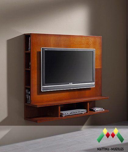 panel para lcd de madera mattina muebles art 152 | Tv mueble ...