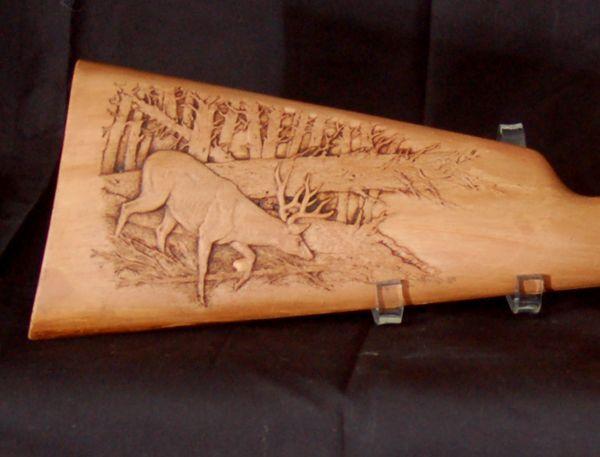gunstock Relief Carving | gun carving study, study cast gun stock, carve gun stock study cast ...