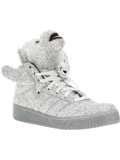 brand new b3324 031da ADIDAS ORIGINALS BY JEREMY SCOTT Teddy Bear Hi-Top Sneaker