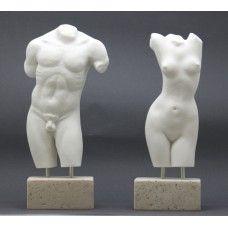 SET Female & Male Body Torso Erotic Nude Art Sexy Greek Statue Sculpture #greekstatue