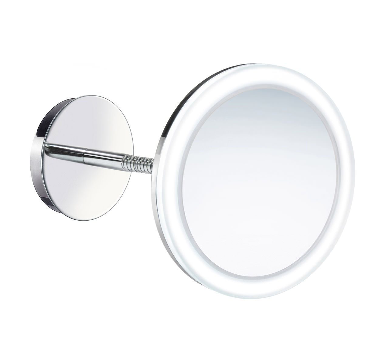 Smedbo Outline Wallmounted Swing Arm LED Shaving And Make-Up Mirror ...