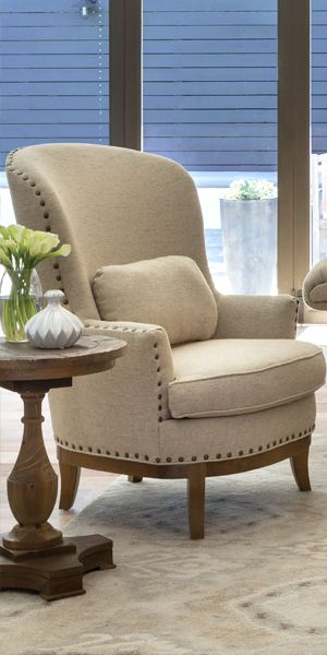 With Just One Glance The Beige Amelia Accent Chair Provides A
