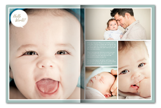 Baby photo book in minutes | Pomysly na Fotobuch | Pinterest