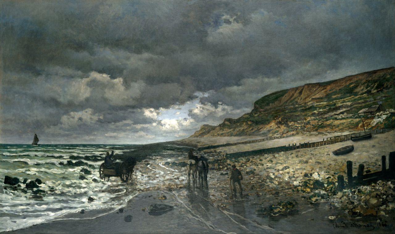 La Pointe de la Hève at Low Tide, 1865, Claude Monet