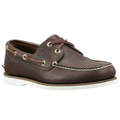Sapato Timberland Men's Classic 2 Eye Boat Shoe Dark Brown Smooth #Tenis  #Timberland