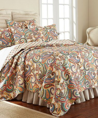 This Alyssa Paisley Quilt Set Is Perfect 18th Jewel Toned Solid
