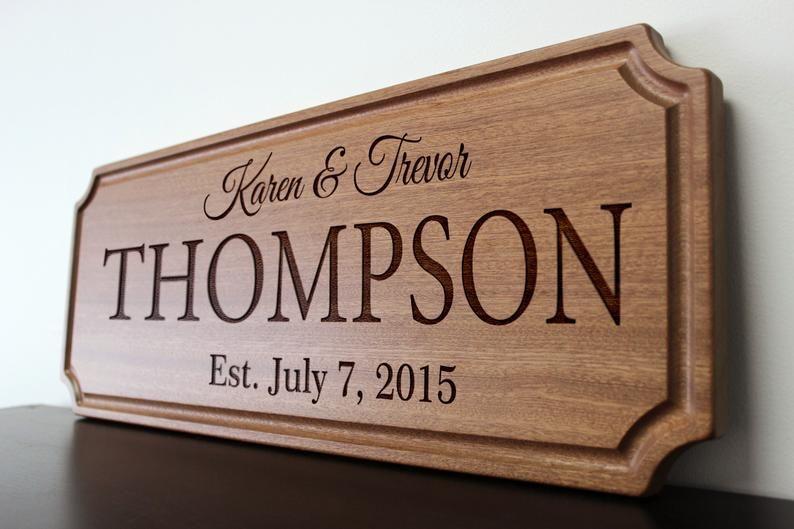 Personalized Engraved Custom Cutting Board Walnut Sapele or Maple #53