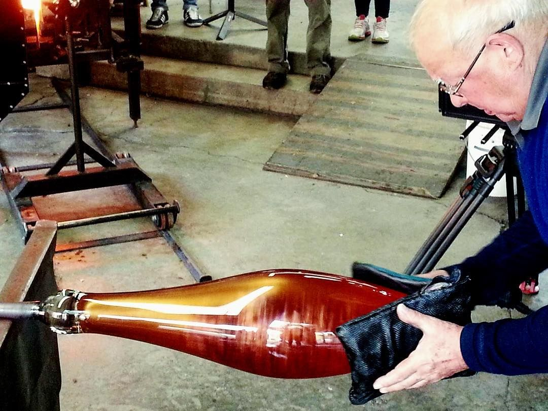 """In our blog today... """"Behind the Maestro we know, there is a nice quiet, calm, and enthusiastic person whose personality always touches the heart of those who meet him. His passion for the glass world mirrors his passion for life."""" Photo credit: Lino Tagliapietra Inc  #linotagliapietra #master #maestro #glass #glassart #glassblowing #design #artgallery #glasscollector #artcollector #artglass #art #glassblower #artist"""
