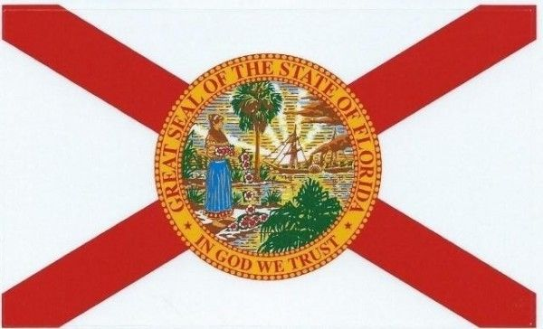 5in X 3in Florida State Flag Sticker Vinyl Vehicle Bumper Decal
