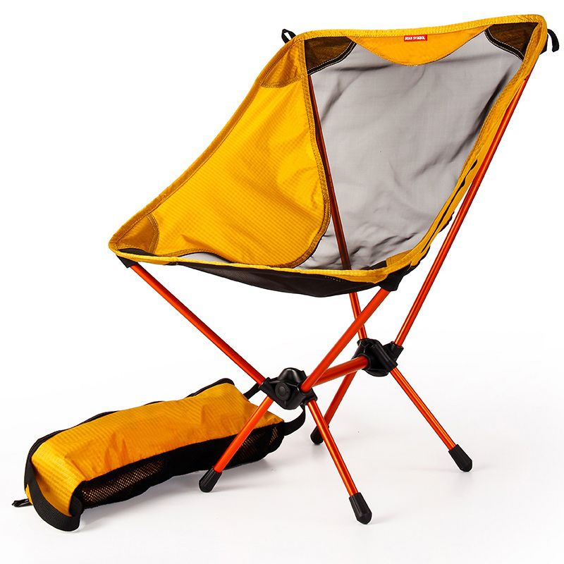 Garden Gaming Ultra Light Chairs Portable Yellow Seat Lightweight Fishing Chair Camping Stool Folding Outdoor Furniture 7075 Fishing Chair Light Chair Camping Stool
