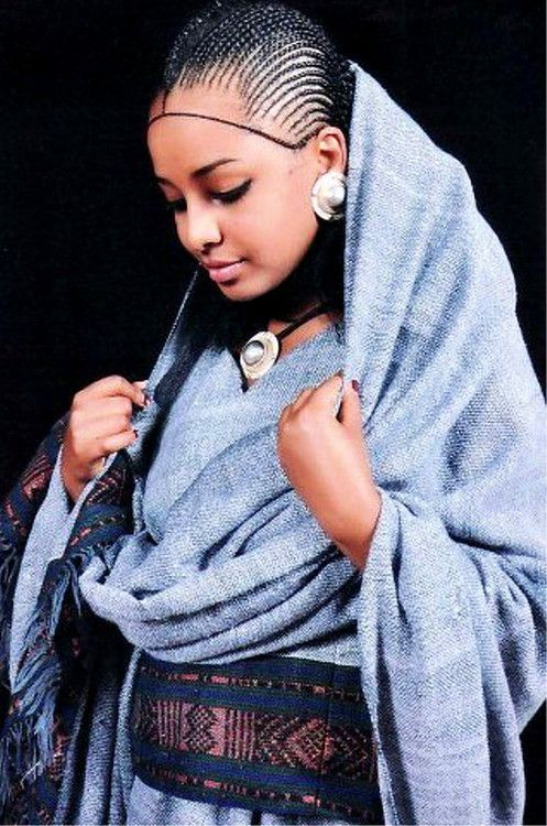A Woman From Tigrai Ethiopia Wearing A Traditional Dress And Hair - Ethiopian new hairstyle