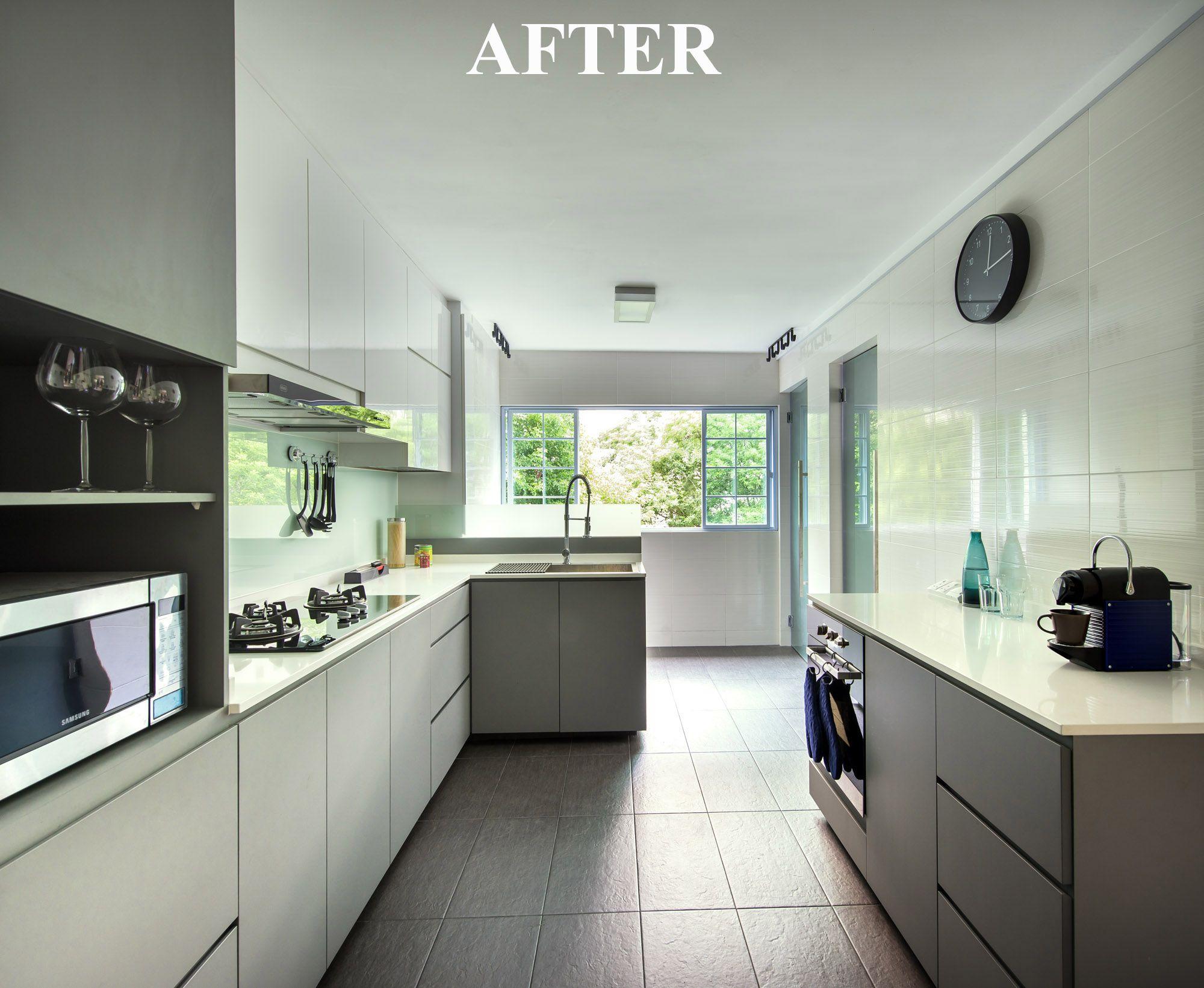 HDB 5 Rooms at Bedok Contemporary kitchen decor, Kitchen