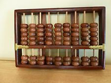 Antique Lotus Flower Brand Rosewood Abacus Peoples Republic Of