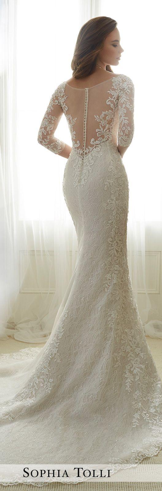 Tulle soft trumpet wedding gown sophia tolli y11702 for Sophia tulle wedding dress