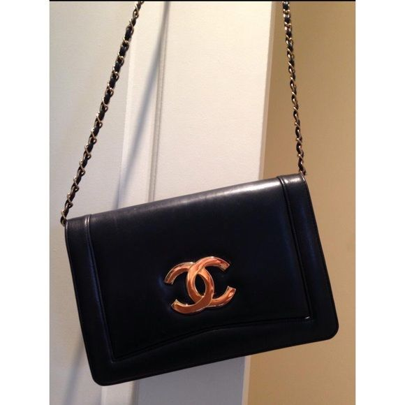 Vintage Vintage Chanel bag with gold chain strap. I purchased off vinted over summer, the girl that had it wasn't sure of the authenticity. The leather on the outside is soft and in great condition. Nothing wrong with this item. Just no longer use as much as I did CHANEL Bags Crossbody Bags