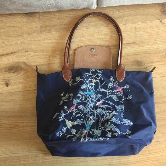 de82c53f0156 Longchamp small Tree of Life shoulder bag Limited edition Tree of Life  shoulder bag. The birds are beautifully sewn onto the bag. Bag is in great  condition