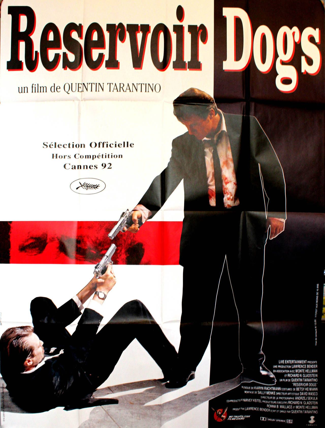 Large Original Poster For Quentin Tarantino's Award Winning Movie Reservoir Dogs 1992
