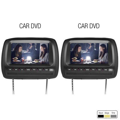 Ouku All New Black Set 9 Inch Lcd Double Headrest Dvd R Monitors