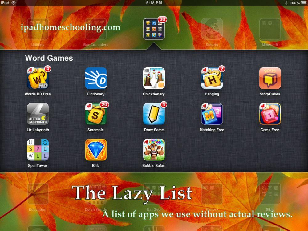 The Lazy List Homeschool apps, Cool writing, Homeschool