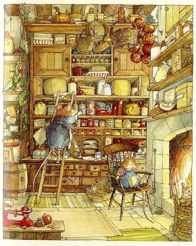 Jill barklem i love bosco di rovo illustration for Piani casa bagno jill e jill