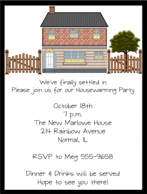 Open House Housewarming Party Invitations Housewarming
