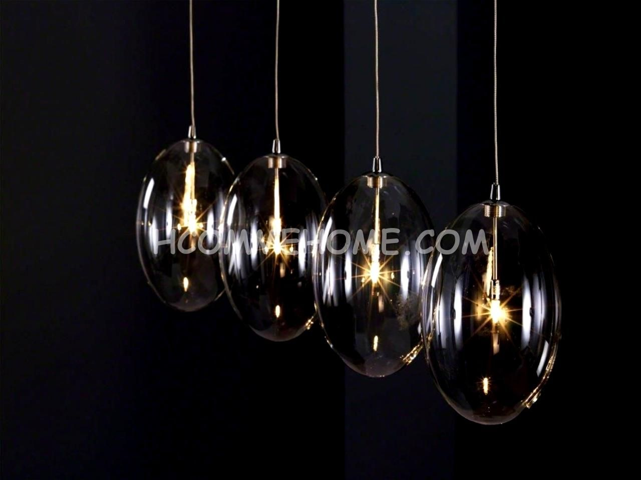 Luminaire suspension design en verre kalo luminaires for Lustre suspendu design