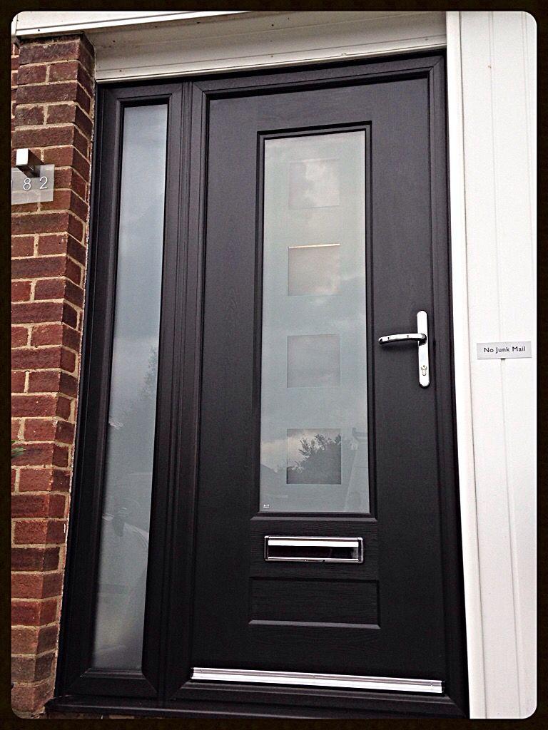 Rockdoor black vogue composite door fitted in hemel for Back doors fitted