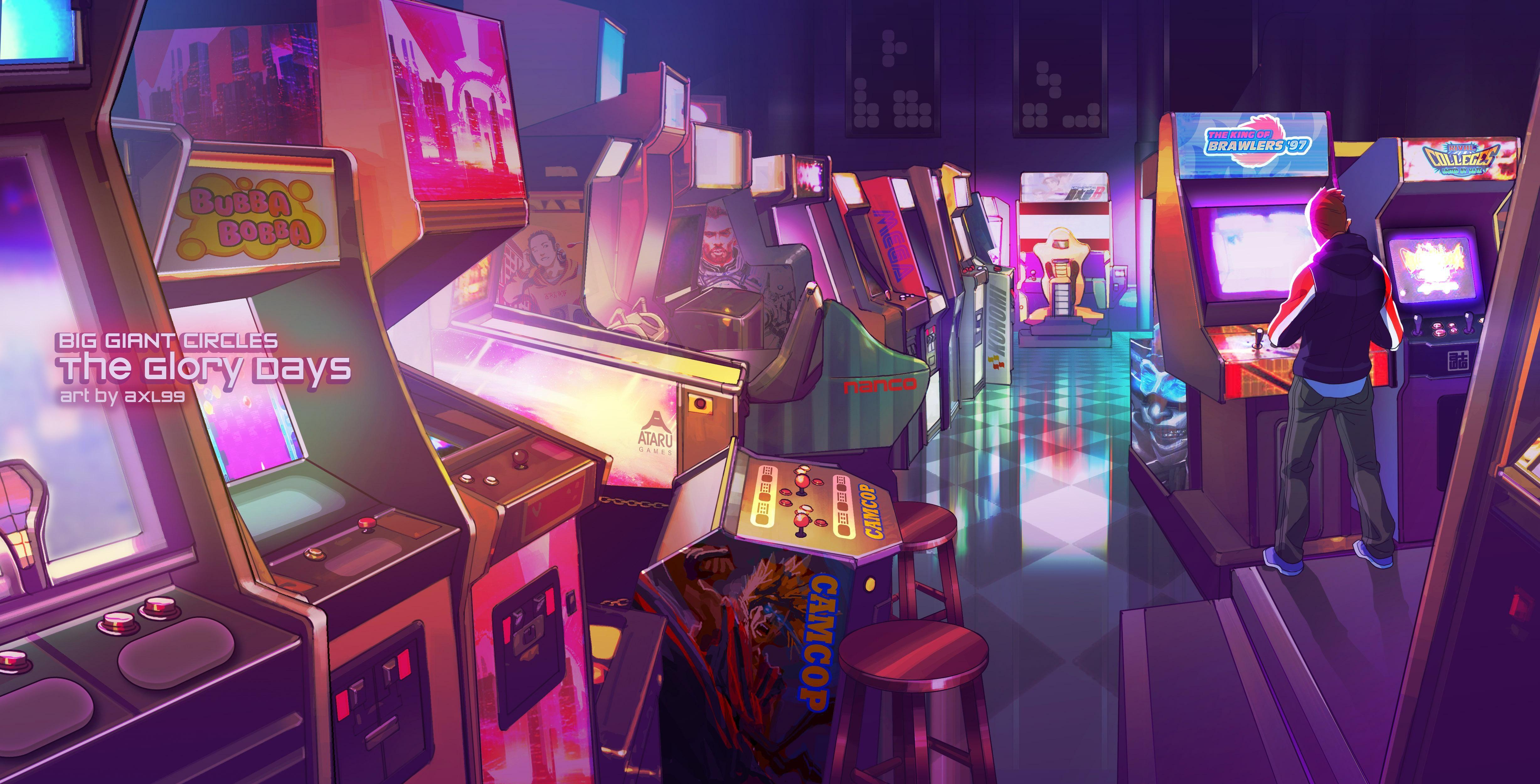 Arcade In 2020 Laptop Wallpaper Computer Wallpaper Retro Arcade