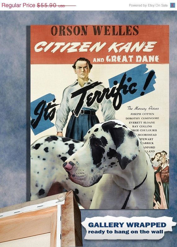 On Sale Great Dane Vintage Movie Style Poster By Nobilitydogs