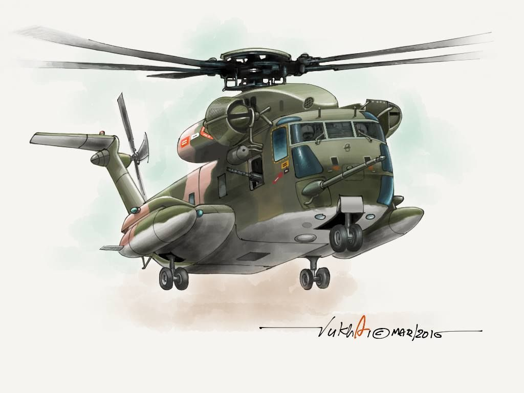 usaf ch 53 jolly green giant painted in paper 53 on ipad 2 my