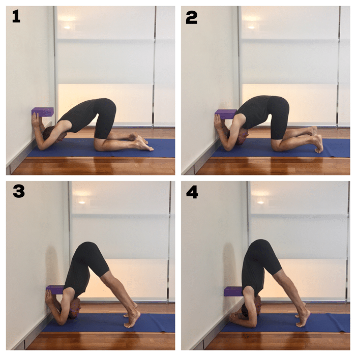 This Post Teaches You A Preparation For The Yoga Pose Headstand Sirsasana This Pose Is Used In Iyengar Yoga To Build A S Iyengar Yoga Iyengar Headstand Yoga