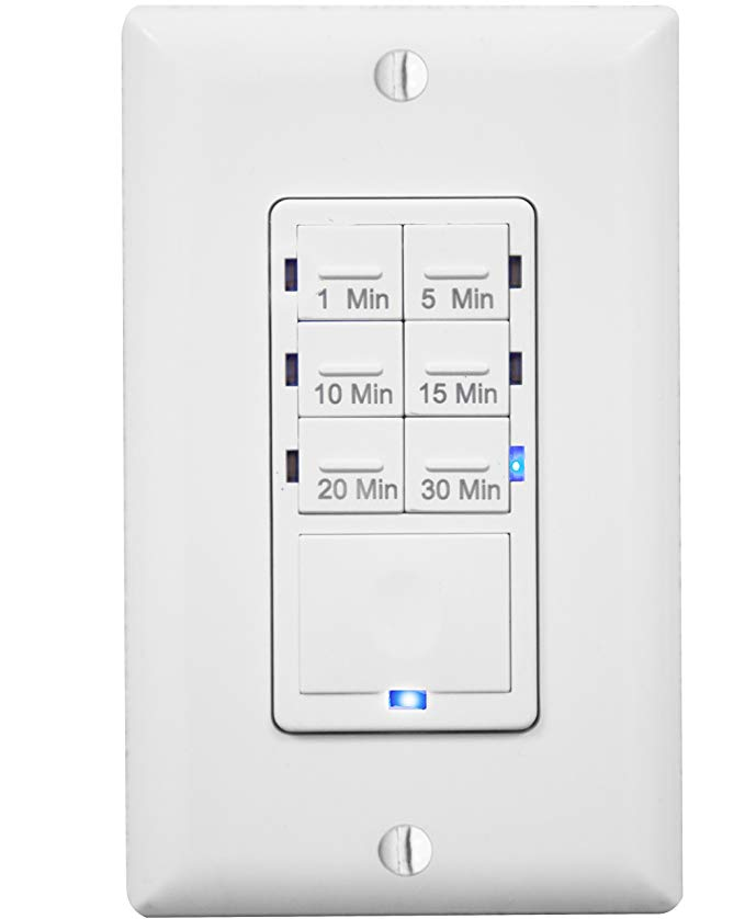 Enerlites Het06a In Wall Countdown Timer Switch For Fan Vent Control 1 5 10 15 20 30 Minutes Led Night Light Ne Countdown Timer Light Switch Timer Timer
