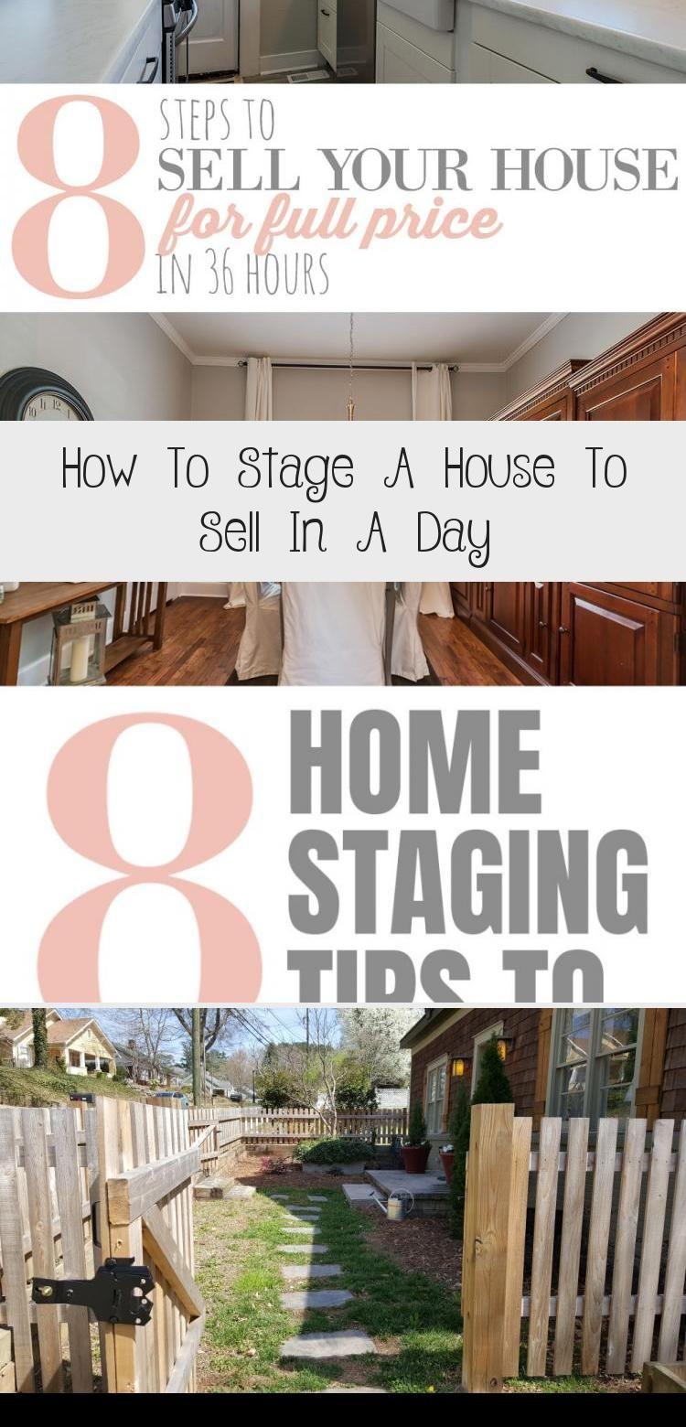 How To Stage A House To Sell In A Day DIY & Crafts