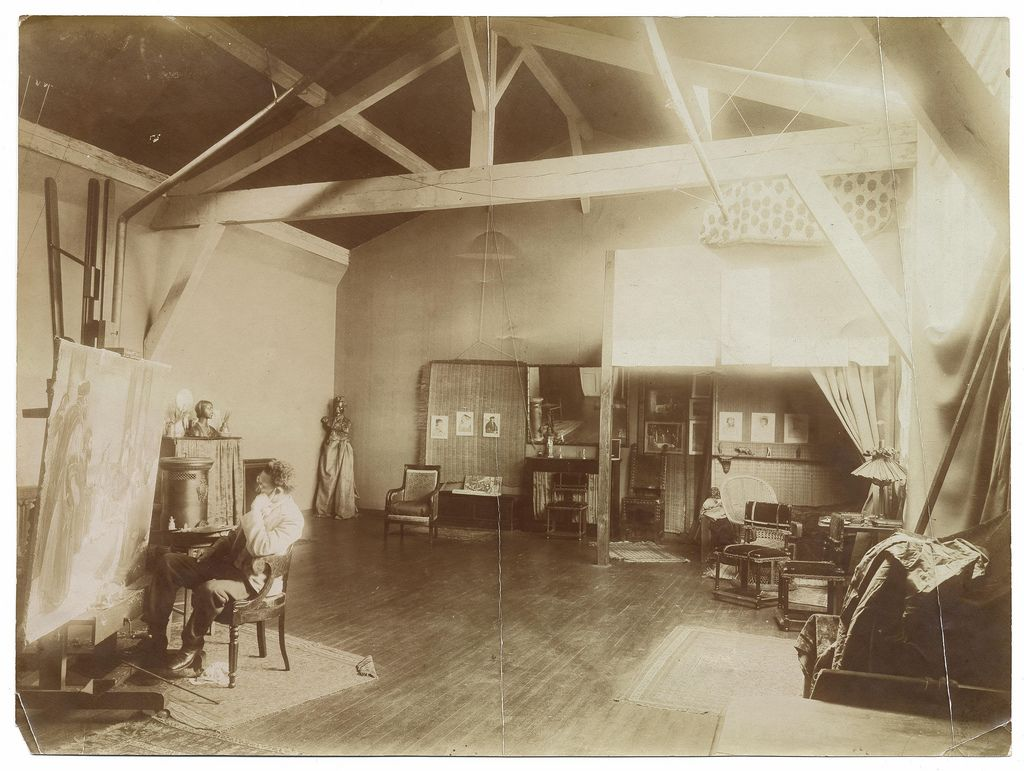 004 Henry Ossawa Tanner in his studio at 51 rue SaintJacques