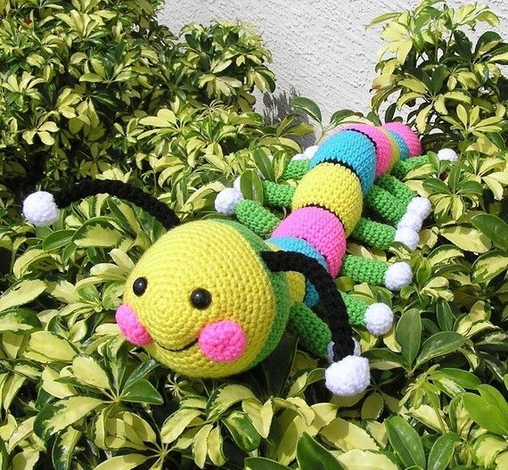 Pdf Crochet Pattern HARRY THE WORM van bvoe668 op Etsy