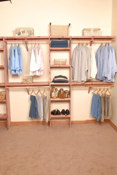 Solid Aromatic Cedar Closet Organizer With Solid Cedar Shelving. Kit  Contains One Deluxe Cubby Unit